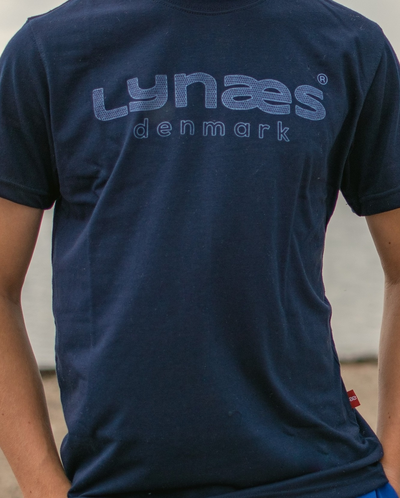 Blå Lynæs t-shirt