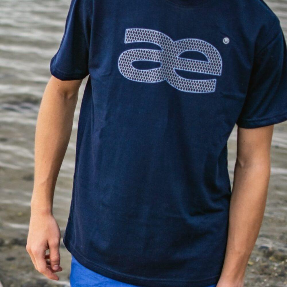 LYNÆS logo t-shirt, blå