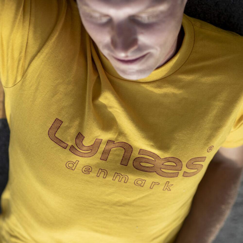 LYNÆS t-shirt, original, gul