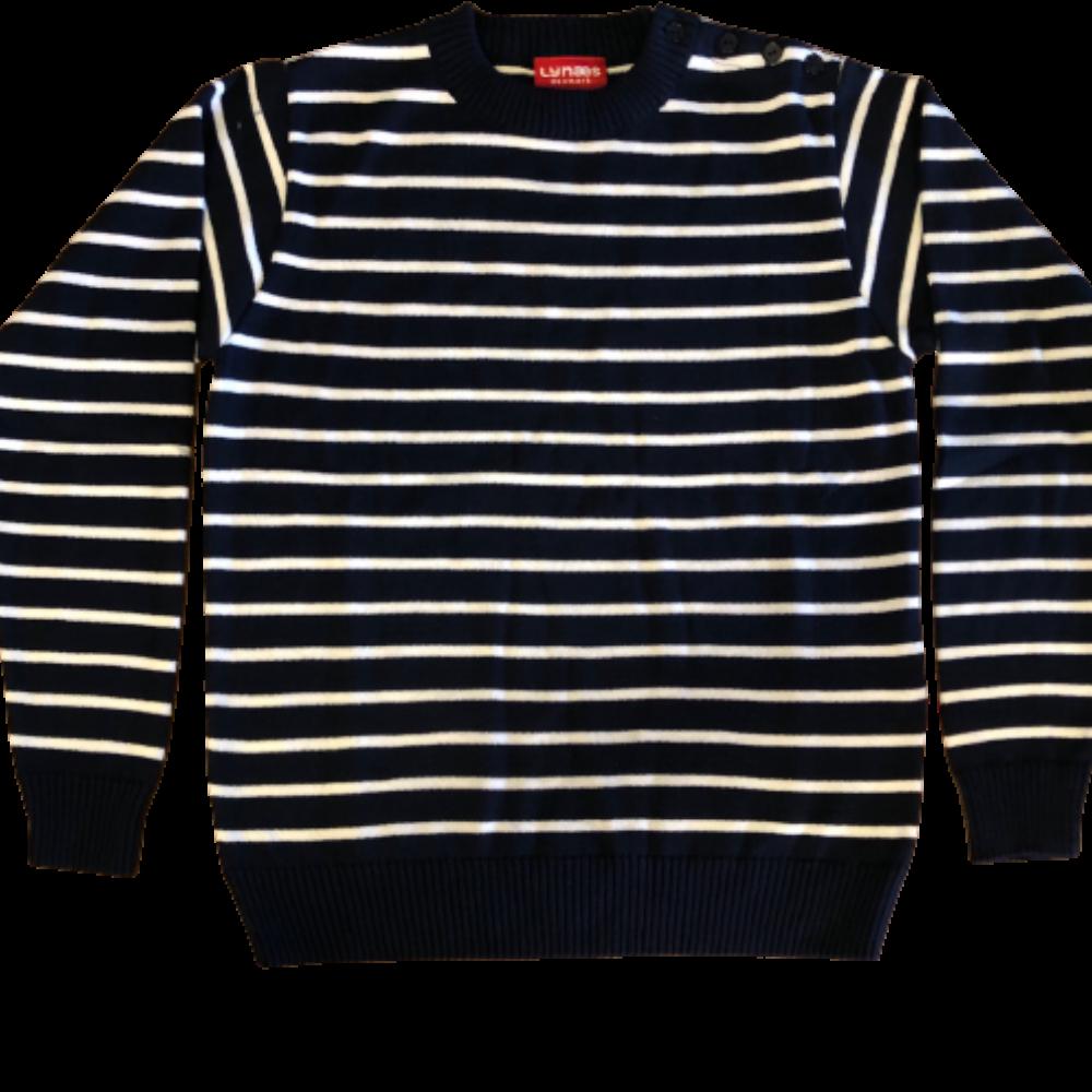 Sømandstrøje – navyblå og hvid, nauticstribet